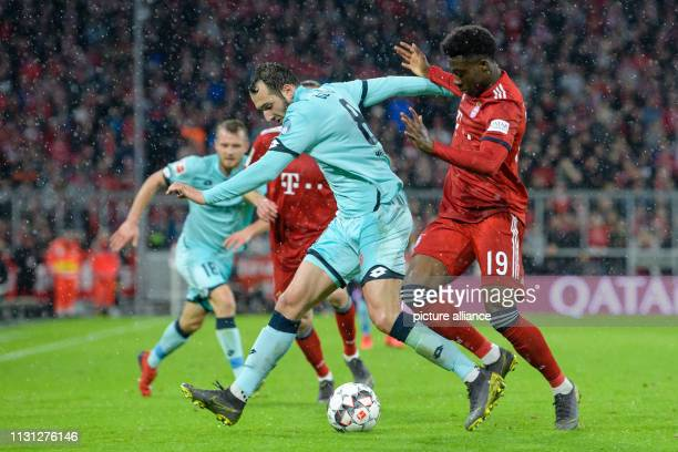 Soccer Bundesliga FC Bayern Munich FSV Mainz 05 26th matchday in the Allianz Arena Levin Mete ztunali from Mainz and Alphonso Davies from FC Bayern...