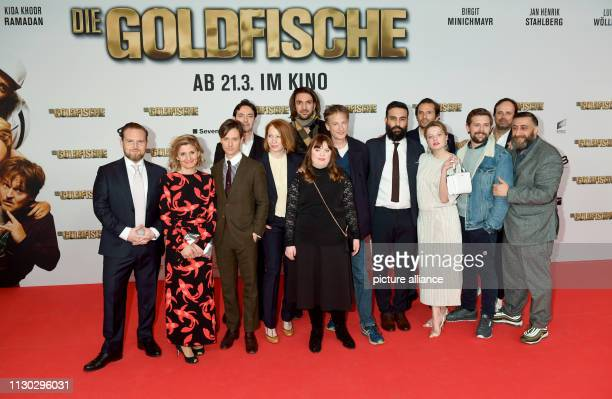 The actor Axel Stein the producer Justina Muesch the actor Tom Schilling the managing director Sony Pictures Entertainment Germany Martin Bachmann...