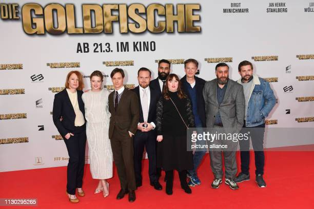 The actors Birgit Minichmayr Jella Haase Tom Schilling Axel Stein the director and scriptwriter Alireza Golafshan and the actors Luisa Wöllisch Jan...