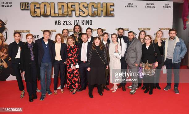 The team with the actors Birgit Minichmayr Jella Haase Tom Schilling Axel Stein the director and scriptwriter Alireza Golafshan the actors Luisa...