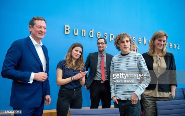 Eckart von Hirschhausen doctor and science journalist Luisa Neubauer representative of the student initiative Fridays for Future Volker Quaschning...