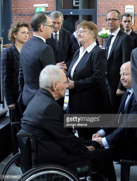 Leading politicians take part in the commemoration ceremony for former Foreign Minister Kinkel at the Liberals' party headquarters Kinkel died on at...