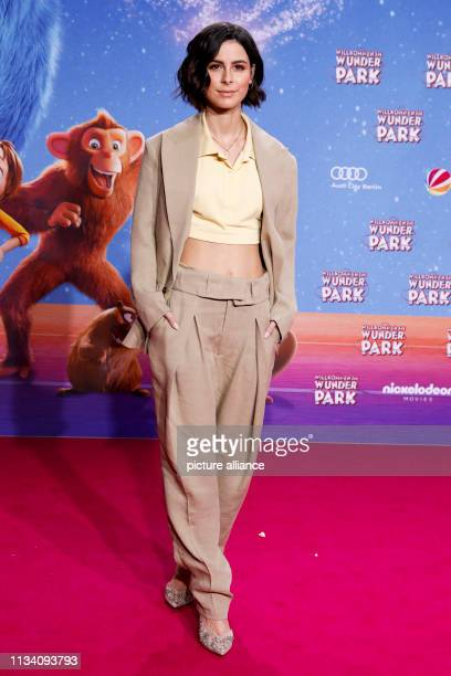 """March 2019, Berlin: Lena Meyer-Landrut, singer and German voice of main character June, comes to the film premiere of the animated film """"Willkommen..."""