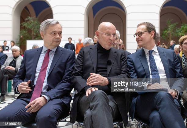 Michael Müller Governing Mayor of Berlin Arthur Langerman Donor of the Langerman Collection and Christian Thomsen President of the Technical...