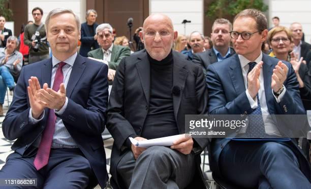Michael Müller Governing Mayor of Berlin Arthur Langerman founder of the Langerman Collection and Christian Thomsen President of the Technische...