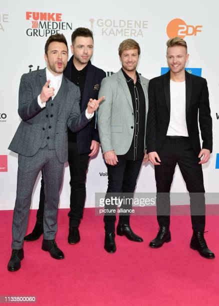 March 2019, Berlin: Singers of the band Westlife come to the awarding of the Golden Camera. The award ceremony will take place at Berlin's disused...