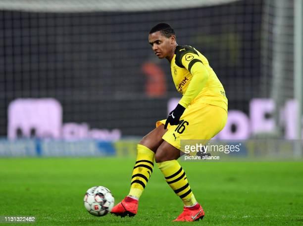 Soccer Bundesliga Hertha BSC Borussia Dortmund 26th matchday in the Olympic Stadium Dortmund's Manuel Akanji Photo Soeren Stache/dpa IMPORTANT NOTE...