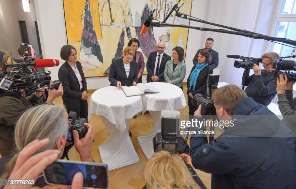 25 March 2019 Brandenburg Frankfurt Julia von Blumenthal President of the European University Viadrina Franziska Giffey Federal Minister for Family...