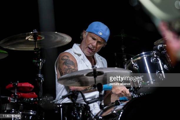 Drummer Chad Smith performs with US band the Red Hot Chili Peppers at the Giza Pyramids outside Cairo Photo Gehad Hamdy/dpa