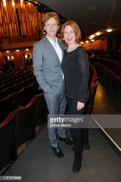 Marion Kracht with husband Berthold Manns at the world premiere of MONSIEUR PIERRE GEHT ONLINE comedy at Kurfürstendamm in the Schiller Theater Photo...