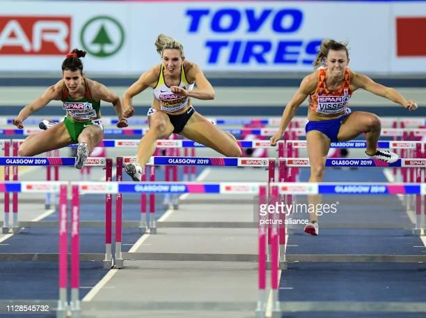 Athletics European Indoor Championships hurdles women finals in the Emirates Arena Nadine Visser Netherlands Cindy Roleder Germany and Greta Kerekes...