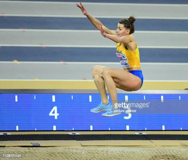 Athletics European Indoor Championships Long Jump Women Final in the Emirates Arena Maryna BekhRomanchuk Ukraine wins the bronze medal Photo Soeren...