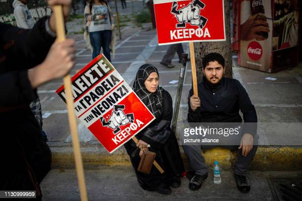 Migrants take part in a demonstration against racism in the Greek capital Photo Angelos Tzortzinis/DPA