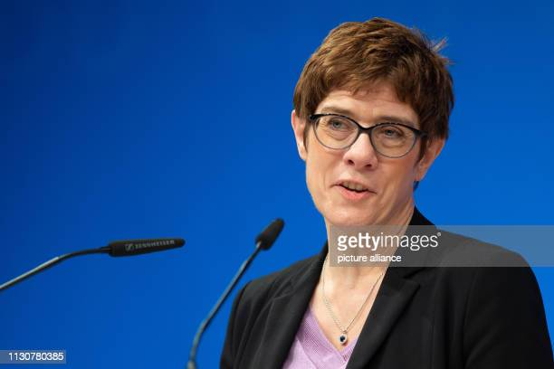 Annegret KrampKarrenbauer CDU federal chairman will speak as a guest speaker at the Political Ash Wednesday of the CDU Hessen About 2000 guests take...