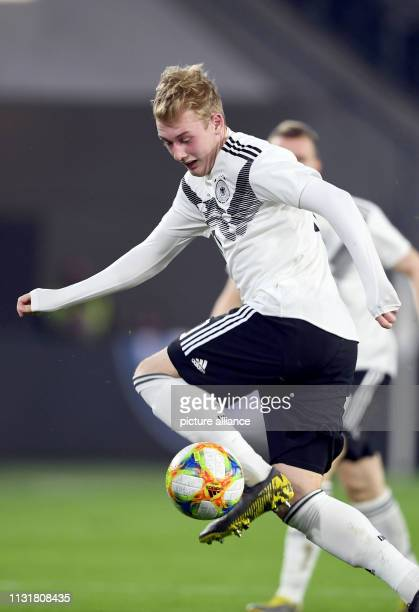 Soccer International match Germany Serbia in the Volkswagen Arena Germany's Julian Brandt plays the ball IMPORTANT NOTE In accordance with the...