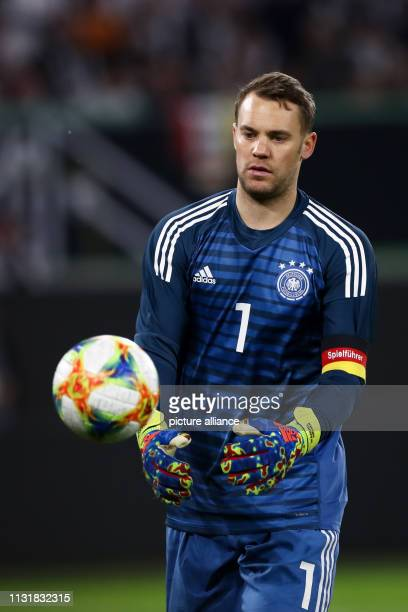 Soccer International match Germany Serbia in the Volkswagen Arena Germany goalkeeper Manuel Neuer IMPORTANT NOTE In accordance with the requirements...