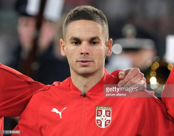 Soccer International match Germany Serbia in the Volkswagen Arena Mijat Gacinovic from Serbia IMPORTANT NOTE In accordance with the requirements of...