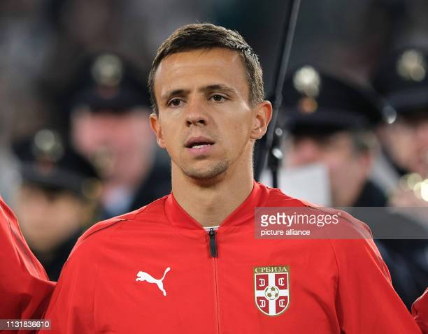 Soccer International match Germany Serbia in the Volkswagen Arena Serbia's Nemanja Maksimovic IMPORTANT NOTE In accordance with the requirements of...