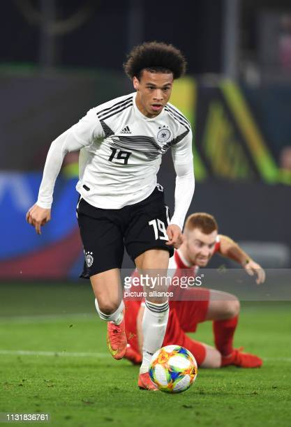 Soccer International match Germany Serbia in the Volkswagen Arena Germany's Leroy Sane plays the ball IMPORTANT NOTE In accordance with the...