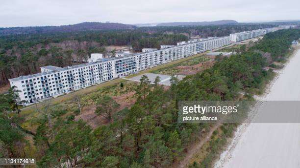March 2019, Mecklenburg-Western Pomerania, Prora: View of block 1 in the listed complex Prora. . Prora is on its way to becoming a tourist oasis of...