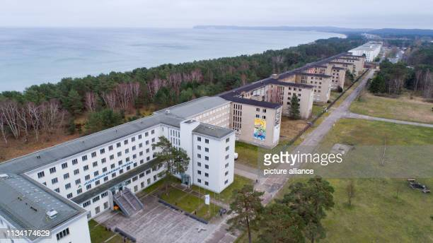 27 March 2019 MecklenburgWestern Pomerania Prora View of block 5 in the listed complex Prora with the youth hostel Prora is on its way to becoming a...