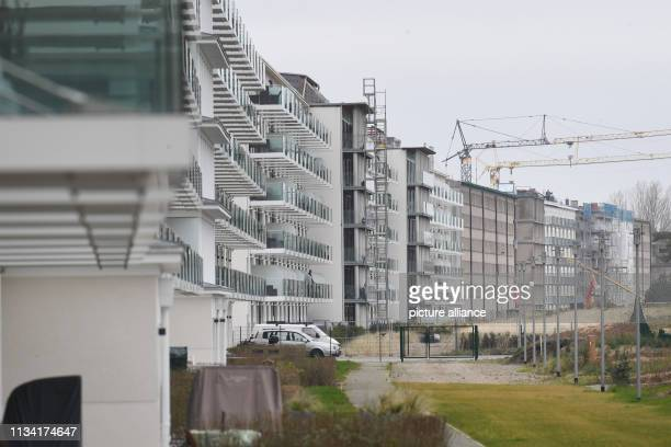 27 March 2019 MecklenburgWestern Pomerania Prora View of blocks 1 3 in the listed complex Prora Prora is on its way to becoming a tourist oasis of...