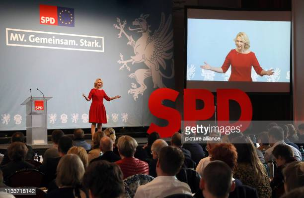 30 March 2019 MecklenburgWestern Pomerania Warnemünde Manuela Schwesig state chairman and prime minister of SchleswigHolstein will speak at the SPD...