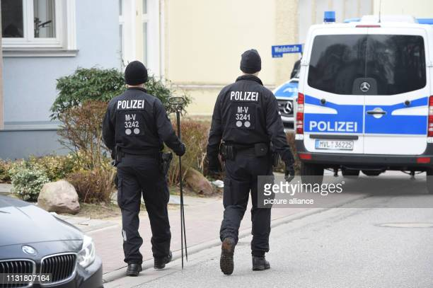 March 2019, Mecklenburg-Western Pomerania, Zinnowitz: A police vehicle is standing in front of a house in which a young woman has been found dead. In...