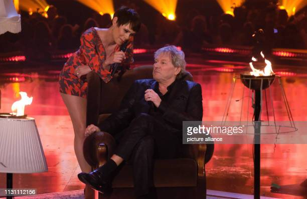Singer Francine Jordi and singer Bernhard Brink perform at the show Alle singen Kaiser Das große Schlagerfest The show will be shown live in the...