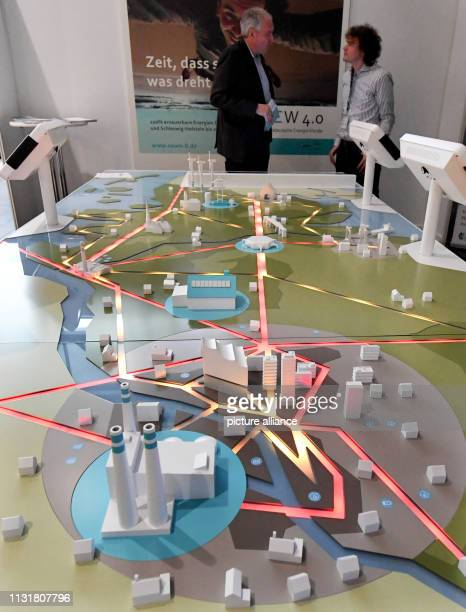 The energy system of the future for northern Germany is shown on a display in the Husum exhibition halls under the name NEW 40 For four days the 'New...