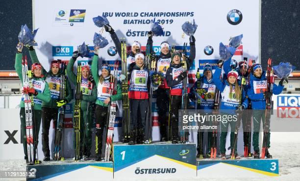 Biathlon World Championship Mixed Relay 2 x 6 km 2 x 75 km The second placed team from Germany with Benedikt Doll Arnd Peiffer Vanessa Hinz Denise...