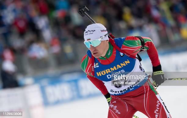 Biathlon World Championship Sprint 10 km Men Krasimir Anev from Bulgaria in action Photo Sven Hoppe/dpa