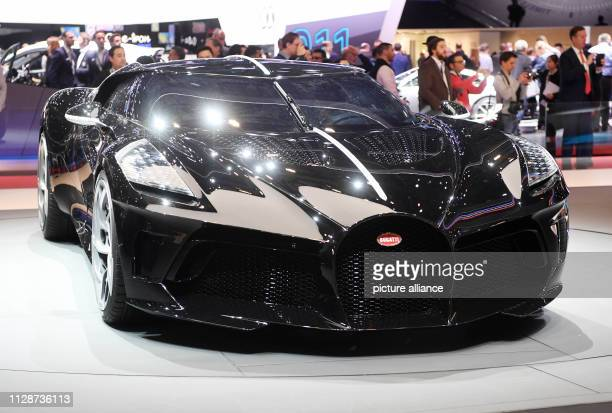 The Bugatti La Voiture Noire is presented at the Geneva Motor Show on the first press day The 89th Geneva Motor Show starts on 7 March and lasts...