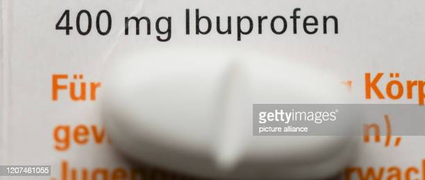 17 March 2020 BadenWuerttemberg Freiburg A tablet containing the active ingredient ibuprofen is placed on a medicine box The World Health...