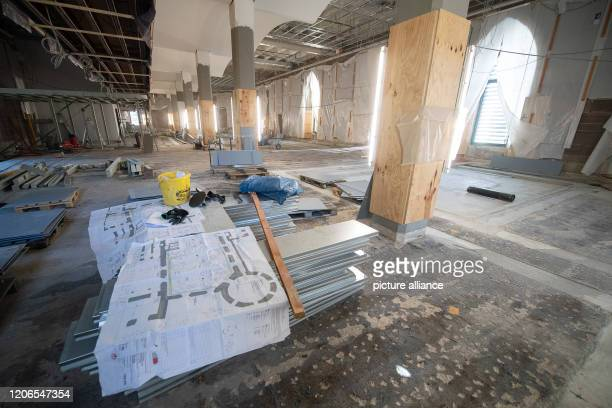 March 2020, Baden-Wuerttemberg, Stuttgart: The building site in the State Museum of Württemberg. The annual press conference took place in the...