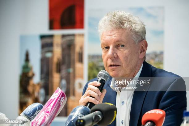 Dieter Reiter reelected Lord Mayor of Munich speaks at a press conference in the district administration department about his election success in the...
