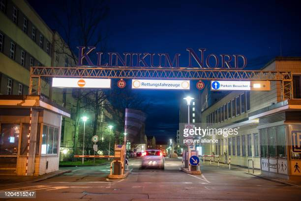 March 2020, Bavaria, Nuremberg: View of an entrance to the Klinikum Nürnberg Nord. The wife of the man from Nuremberg, whose positive finding for...