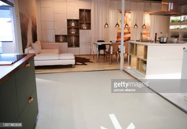 An otherwise wellattended furniture store is very little visited today During the Corona crisis people try to go to department stores as little as...