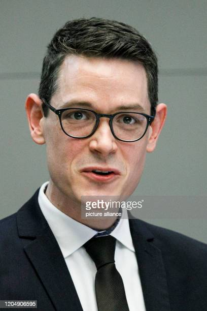 March 2020, Berlin: Max Mälzer, Managing Director of the German Donation Council, speaks at a press conference of the German Donation Council...