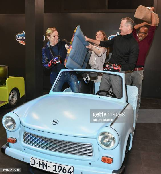 March 2020, Berlin: The presenter and entertainer Wolfgang Lippert , singer Dominique Lacasa, ex-boxer Henry Maske and actor Pierre Sanoussi-Bliss at...