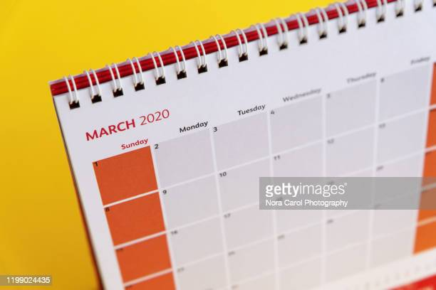 march 2020 calendar - march month stock pictures, royalty-free photos & images