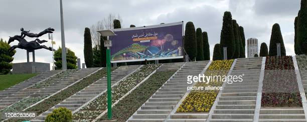 March 2020, Iran, Teheran: The entrance to the Tabiat Park . The Tabiat Park is the largest park in the Iranian capital and very popular with the...