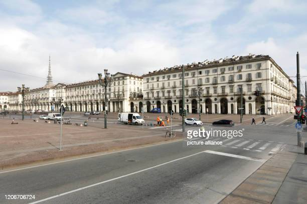 Hardly frequented is the Piazza Vittorio Veneto To contain the corona pandemic Italy has once again significantly tightened its blocking measures...