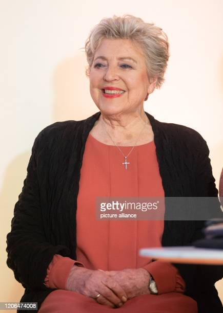 """March 2020, Lower Saxony, Langenhagen: The actress Marie-Luise Marjan, who plays Helga Beimer in the ARD cult series """"Lindenstraße"""", at a press..."""