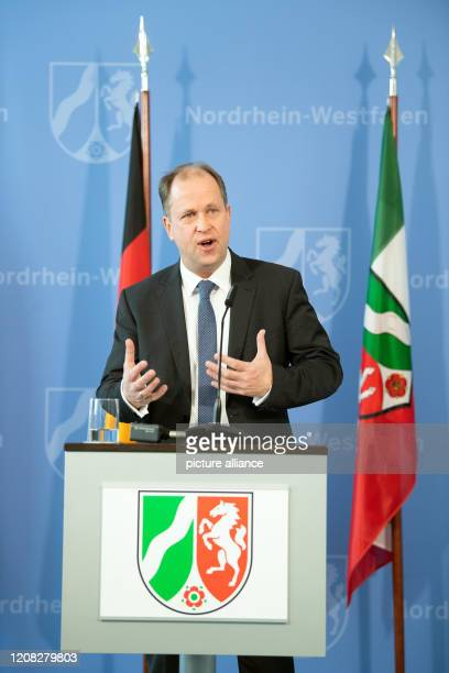 26 March 2020 North RhineWestphalia Duesseldorf Joachim Stamp Deputy Prime Minister and Minister for Children Family Refugees and Integration of the...