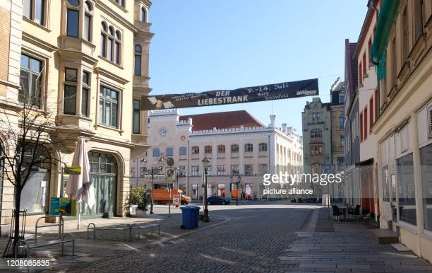 March 2020, Saxony, Zwickau: View of the city centre of Zwickau. In the district of Zwickau the number of people infected with the corona virus in...