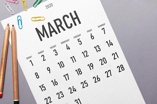 March 2020 simple calendar 1194554499