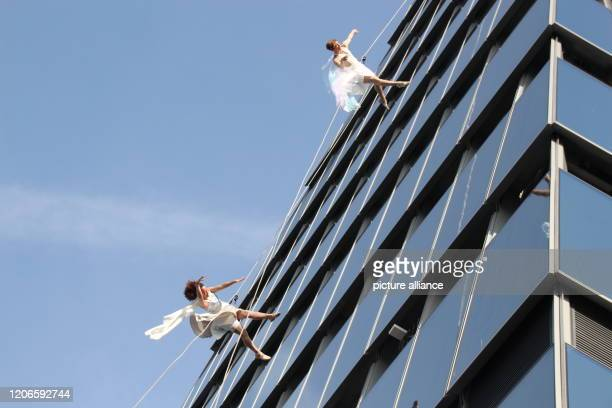 Performers will perform during the official opening ceremony of the triangular viewing platform Edge The platform is in one of the new skyscrapers in...