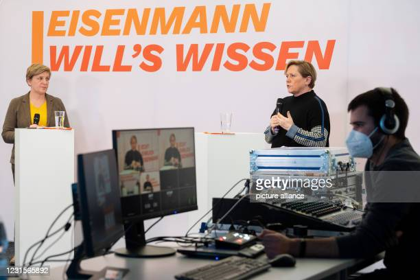 March 2021, Baden-Wuerttemberg, Stuttgart: Susanne Eisenmann , top candidate of the CDU for the state election in Baden-Württemberg and Minister for...
