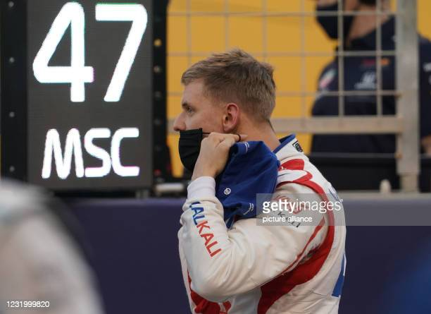 March 2021, Bahrain, Sakhir: German driver Mick Schumacher before taking the start of the Formula 1 Bahrain Grand Prix, the first of the season. Mick...